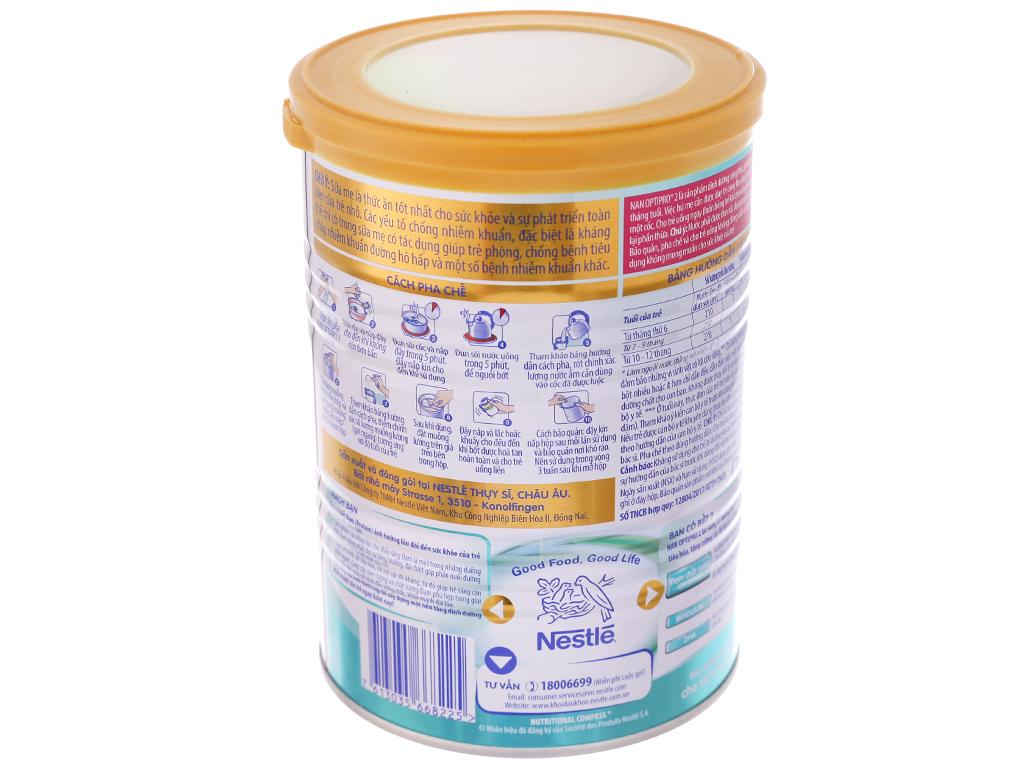Sữa bột Nestlé NAN Optipro 2 lon 400g (6 - 12 tháng) 4