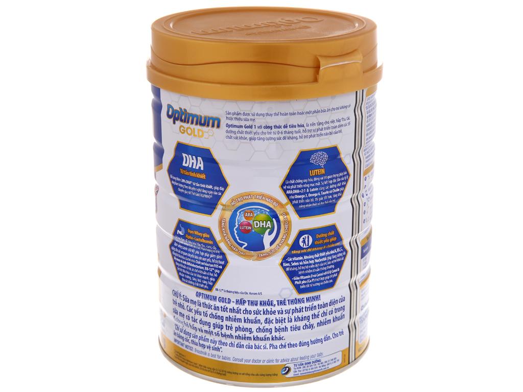 Sữa bột Optimum Gold 1 lon 900g (0 - 6 tháng) 3