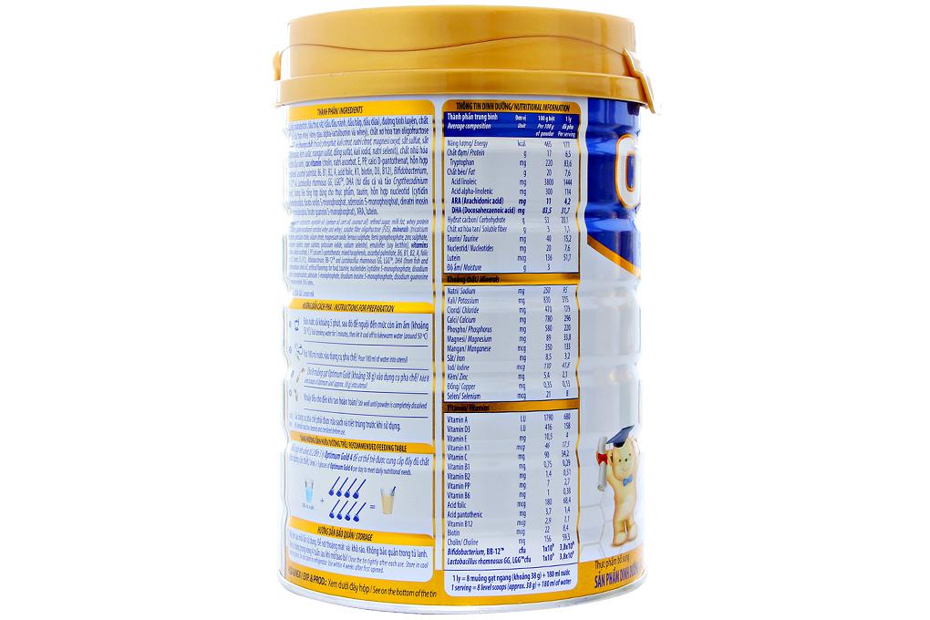 Sữa bột Optimum Gold 4 900g (cho trẻ 2 - 6 tuổi)