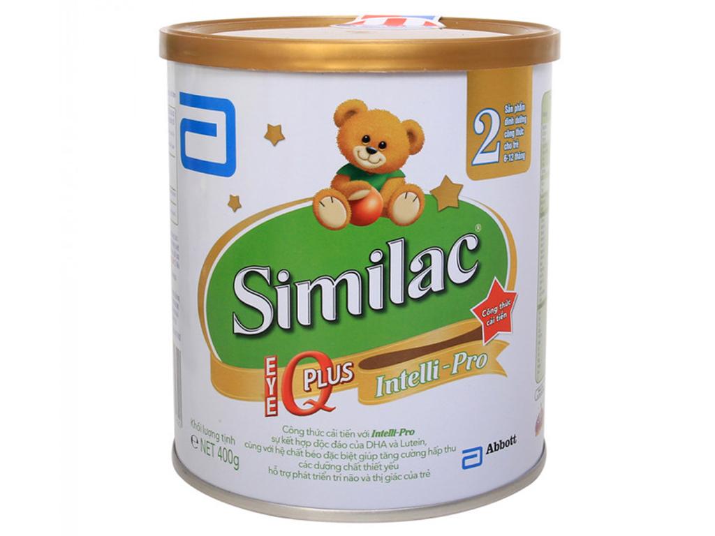 Sữa bột Abbott Similac Eye-Q 2 lon 400g (6 - 12 tháng) 1