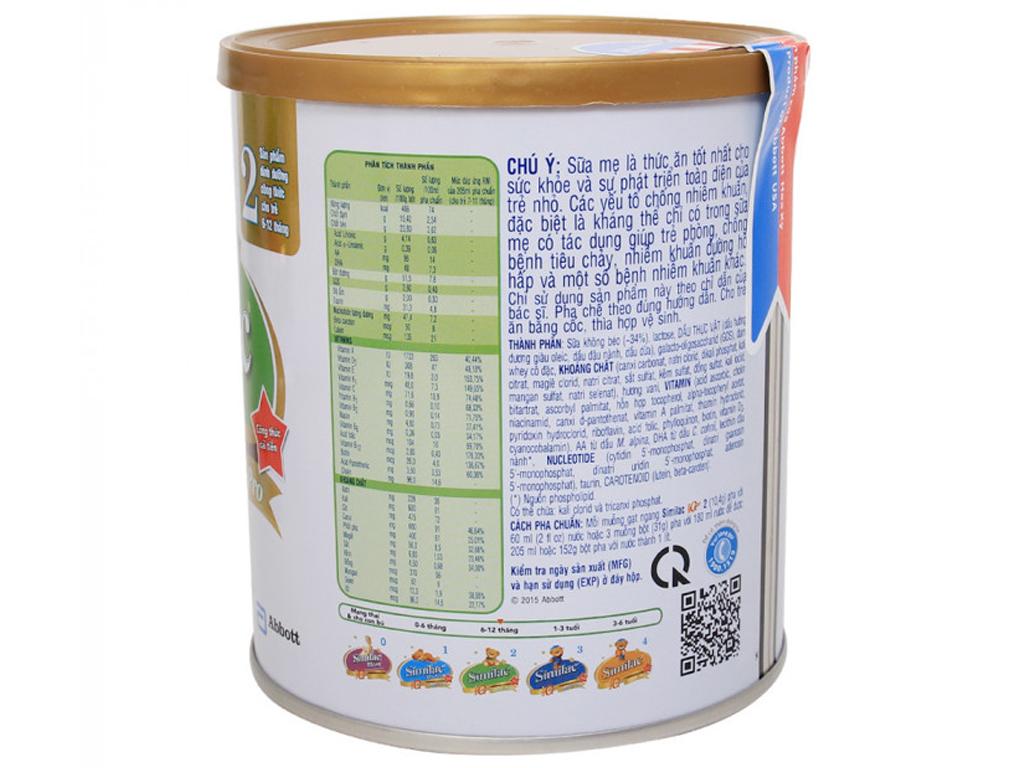 Sữa bột Abbott Similac Eye-Q 2 lon 400g (6 - 12 tháng) 2