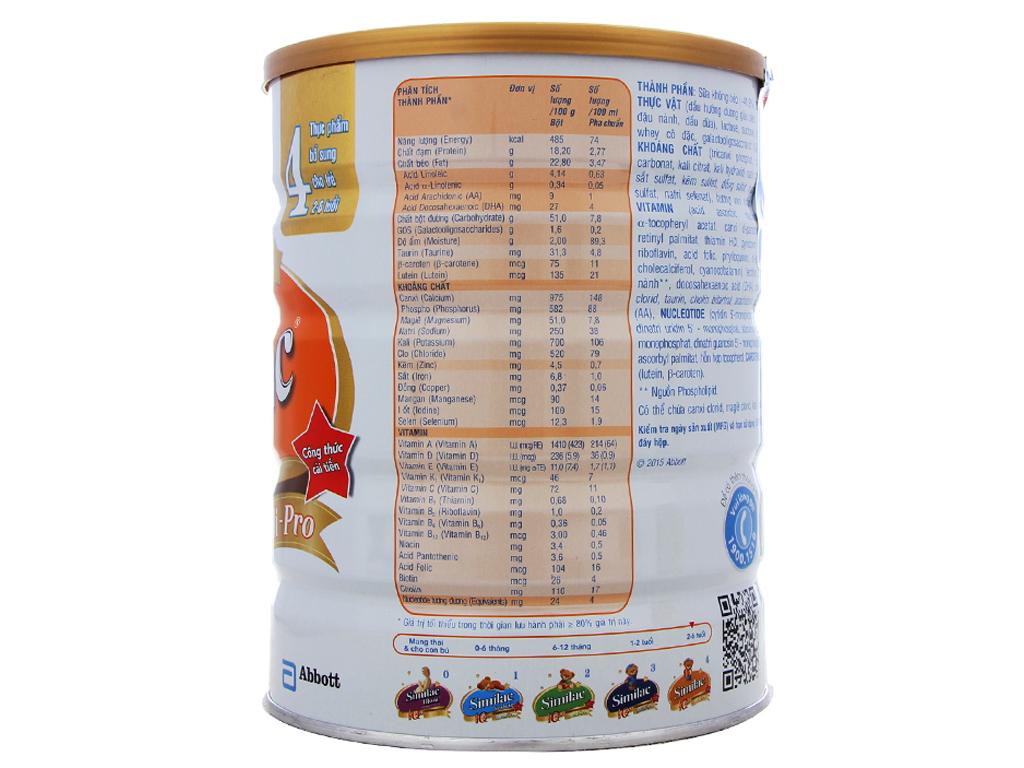 Sữa bột Abbott Similac Eye-Q Plus 4 lon 900g (2 - 6 tuổi) 2