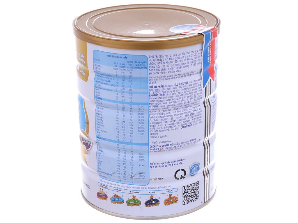 Sữa bột Abbott Similac Newborn Eye-Q 1 Intelli-Pro lon 900g (0 - 6 tháng) 3