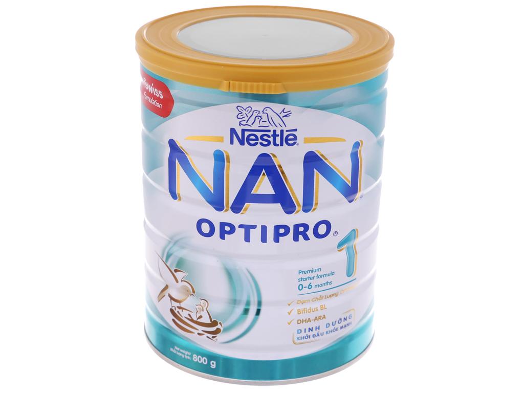 Sữa bột Nestle Nan Optipro 1 lon 800g (0 - 6 tháng) 2