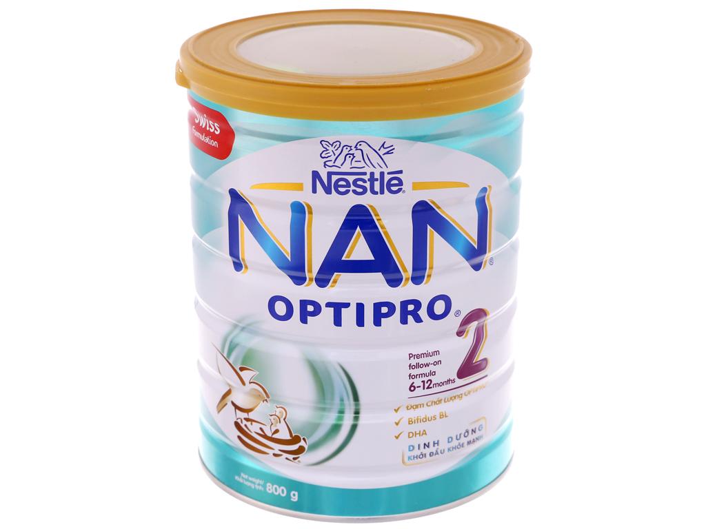 Sữa bột NAN Optipro 2 lon 800g (6 - 12 tháng) 2