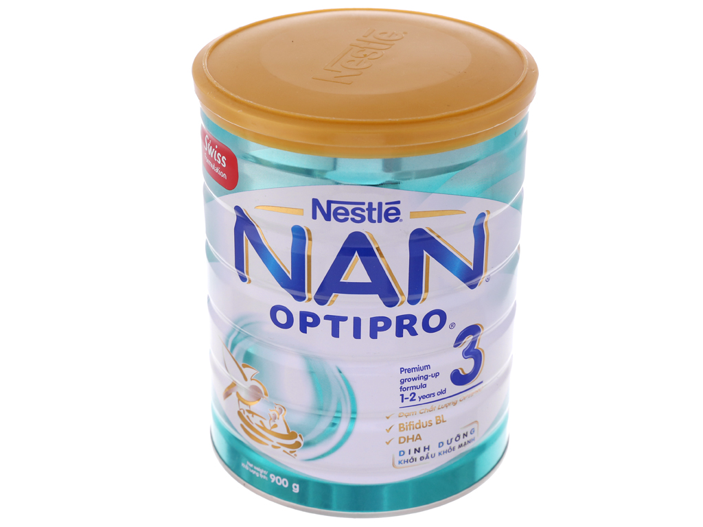 Sữa bột Nestle Nan Optipro 3 lon 900g (1 - 2 tuổi) 1