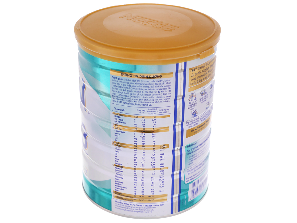 Sữa bột Nestlé Nan Optipro 3 lon 900g (1 - 2 tuổi) 2