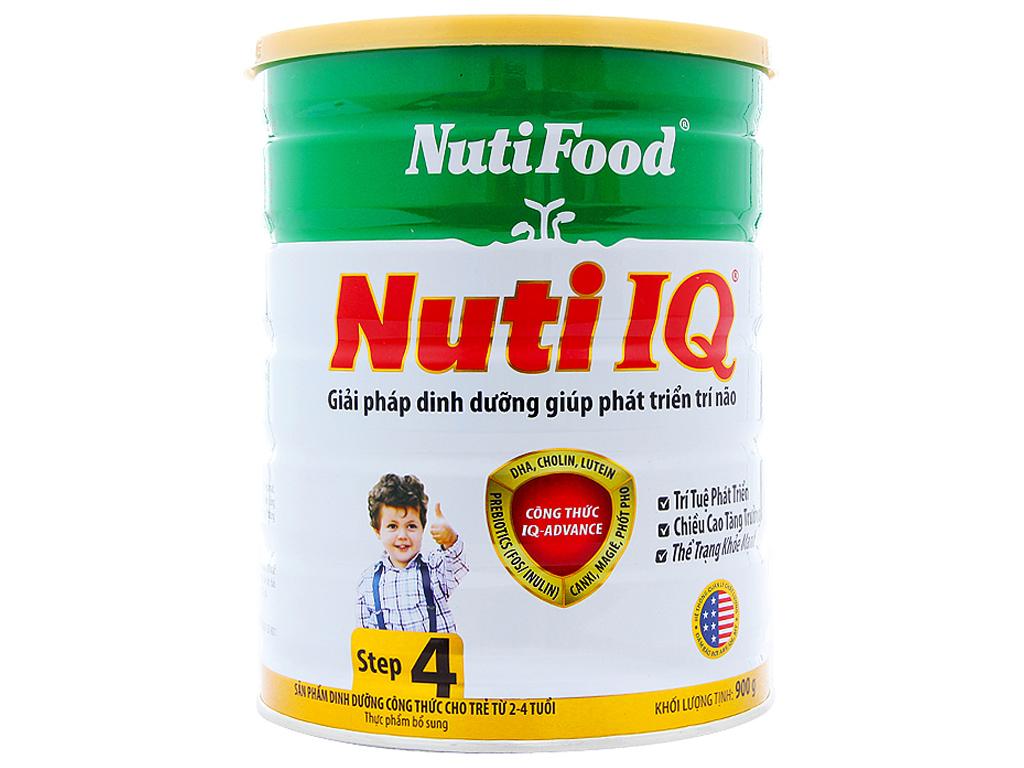 Sữa bột NutiFood Nuti IQ 4 lon 900g (2 - 4 tuổi) 1