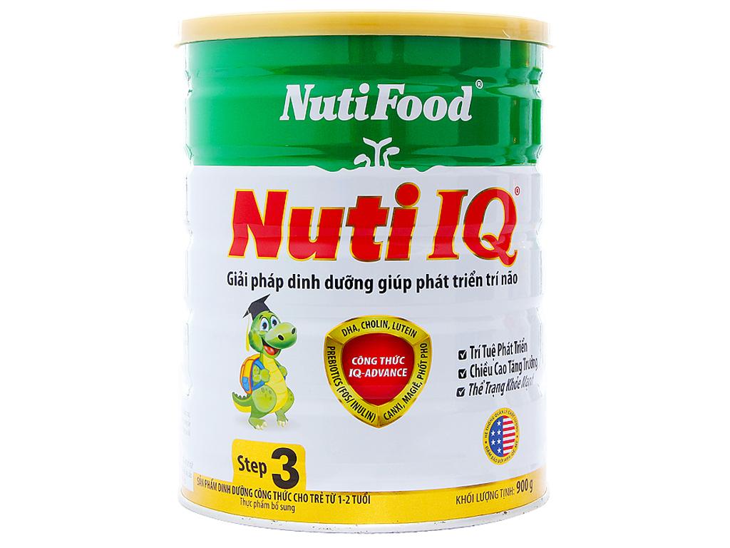 Sữa bột NutiFood Nuti IQ 3 lon 900g (1 - 2 tuổi) 1
