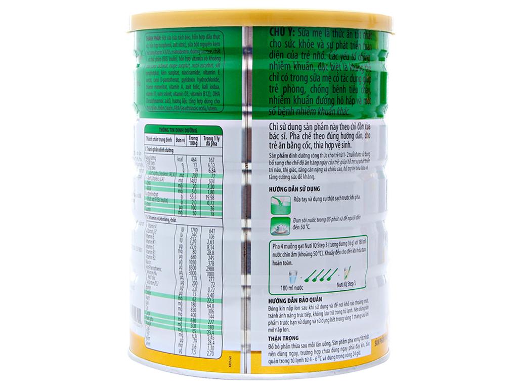 Sữa bột NutiFood Nuti IQ 3 lon 900g (1 - 2 tuổi) 2