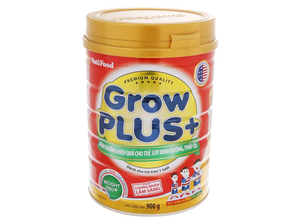 Sữa bột NutiFood Grow Plus+ suy dinh dưỡng thấp còi lon 900g (trên 1 tuổi) 2