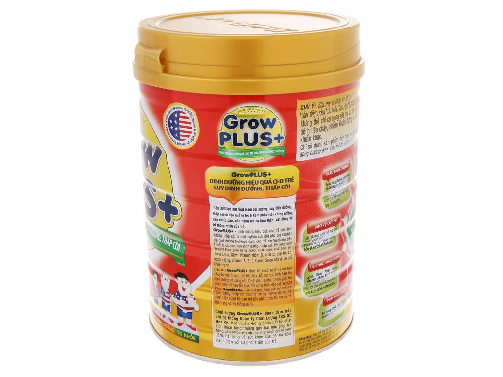 Sữa bột NutiFood Grow Plus+ suy dinh dưỡng thấp còi lon 900g (trên 1 tuổi) 3