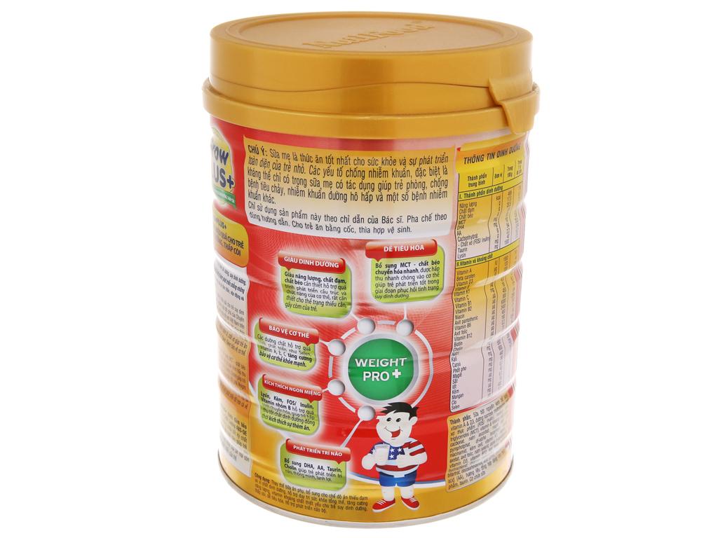 Sữa bột NutiFood Grow Plus+ suy dinh dưỡng thấp còi lon 900g (trên 1 tuổi) 4