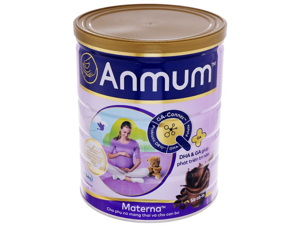 Sữa bột Anmum Materna sô cô la lon 800g 1