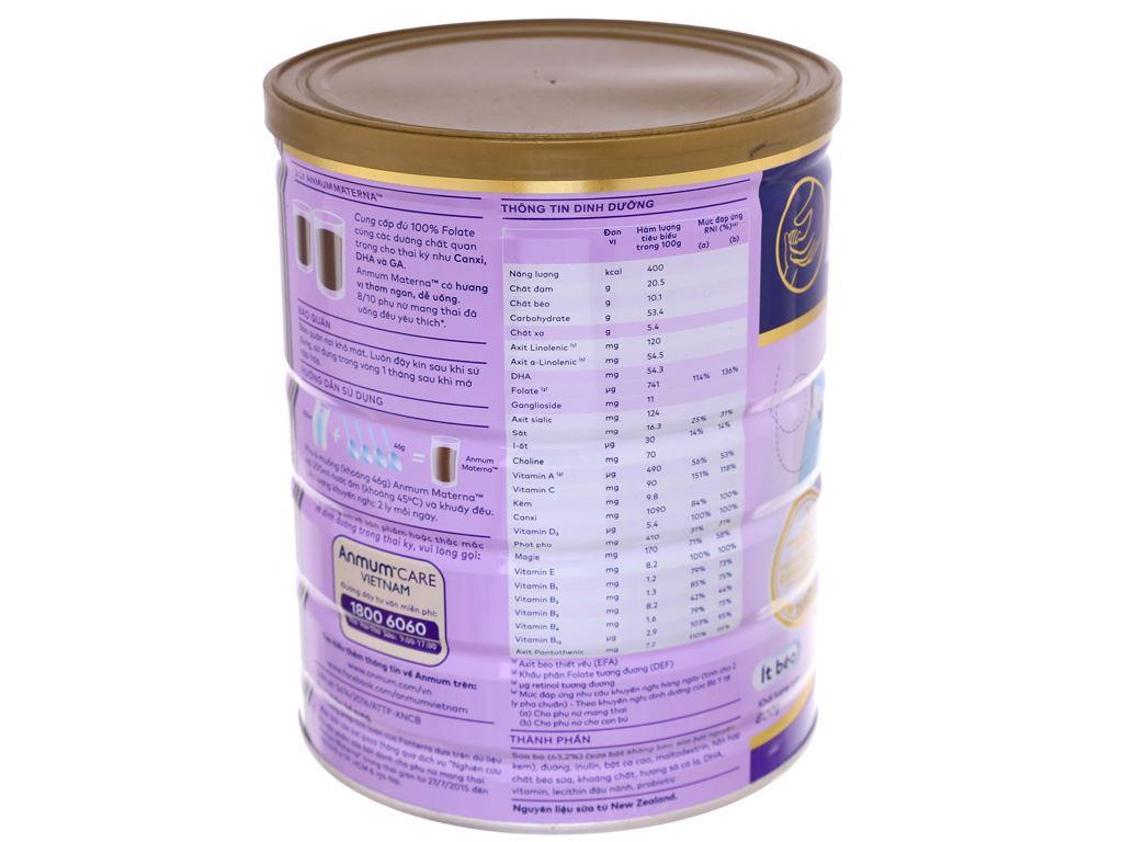 Sữa bột Anmum Materna sô cô la lon 800g 3