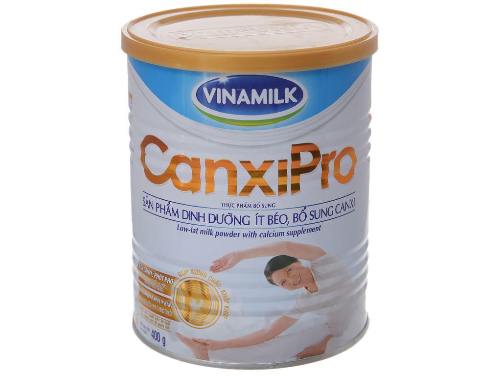 Sữa bột Vinamilk CanxiPro ít béo lon 400g (trên 30 tuổi) 2