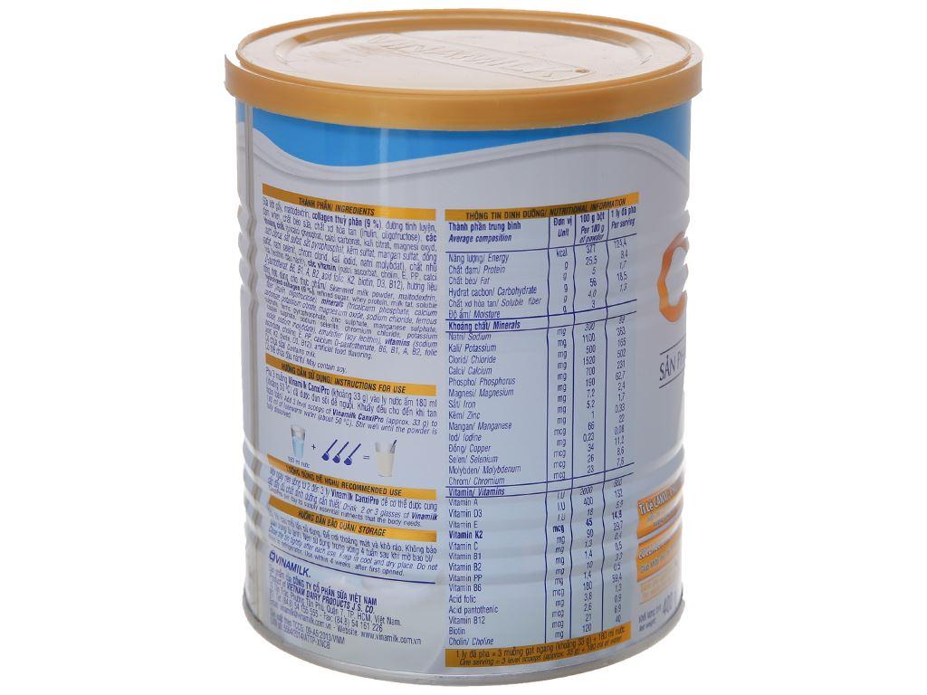 Sữa bột Vinamilk CanxiPro ít béo lon 400g (trên 30 tuổi) 3