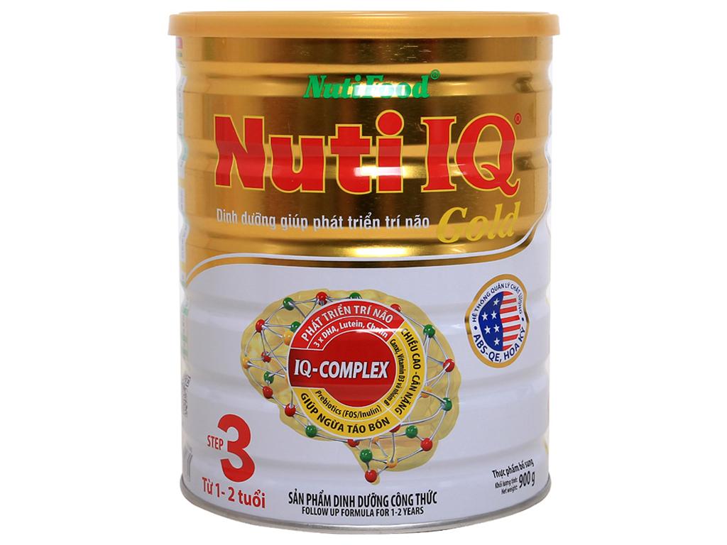 Sữa bột NutiFood Nuti IQ Gold 3 lon 900g (1 - 2 tuổi) 1