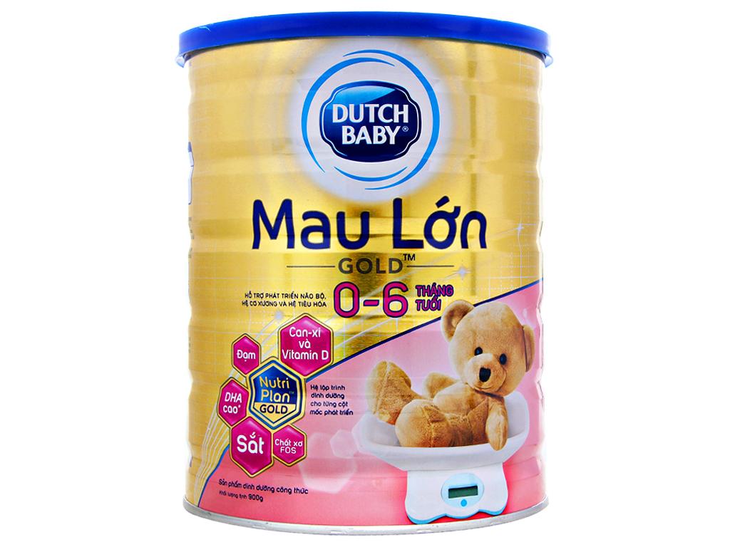 Sữa bột Dutch Baby Gold Mau lớn lon 900g (0 - 6 tháng) 1