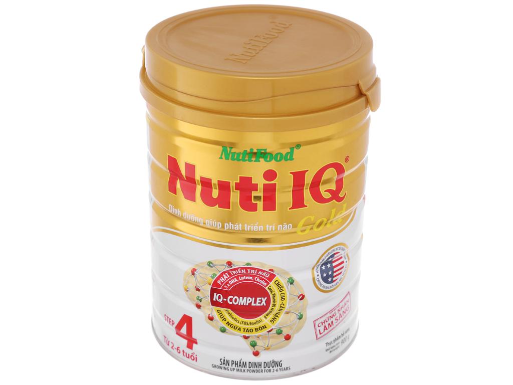 Sữa bột NutiFood Nuti IQ Gold 4 lon 900g (2 - 6 tuổi) 2
