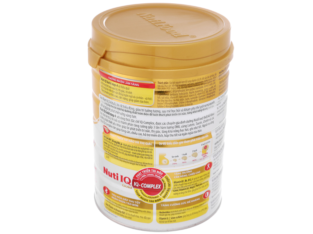 Sữa bột NutiFood Nuti IQ Gold 4 lon 900g (2 - 6 tuổi) 3