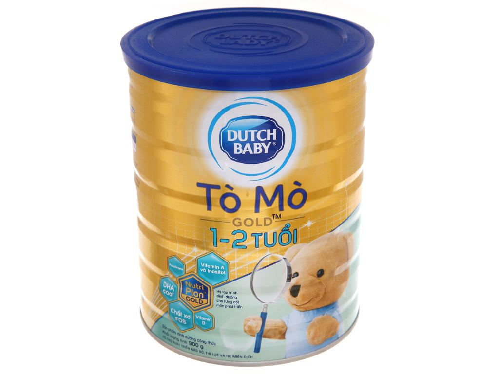 Sữa bột Dutch Baby Gold Tò mò vani lon 900g (1 - 2 tuổi) 2
