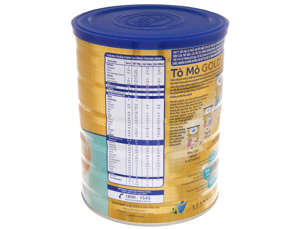 Sữa bột Dutch Baby Gold Tò mò vani lon 900g (1 - 2 tuổi) 3