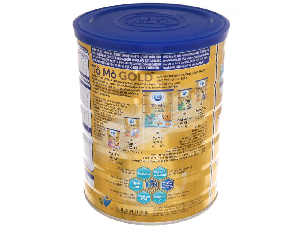 Sữa bột Dutch Baby Gold Tò mò vani lon 900g (1 - 2 tuổi) 4