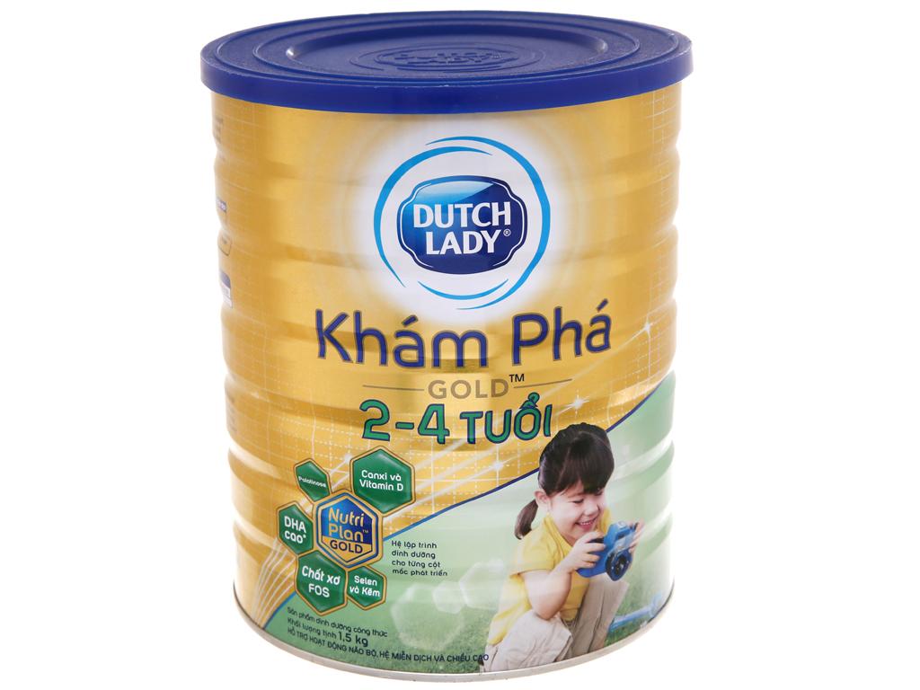 Sữa bột Dutch Lady Gold Khám phá vani lon 1,5kg (2 - 4 tuổi) 2