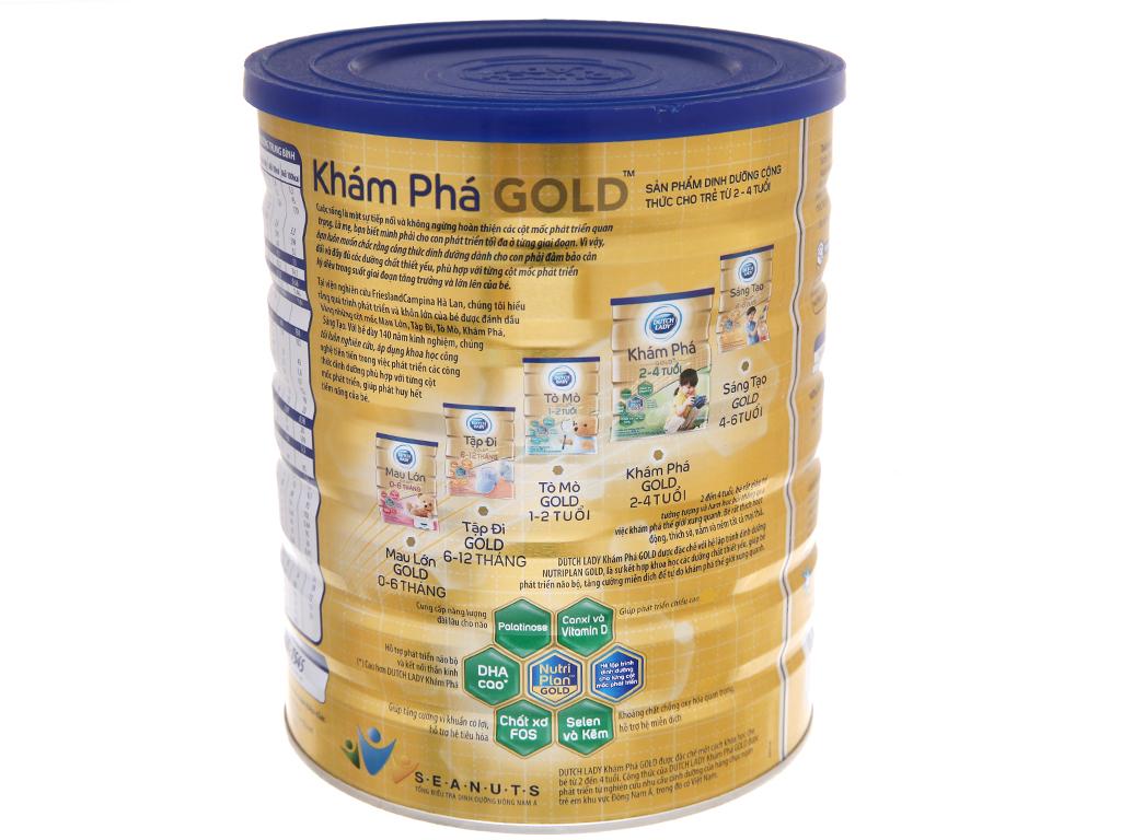 Sữa bột Dutch Lady Gold Khám phá vani lon 1,5kg (2 - 4 tuổi) 4