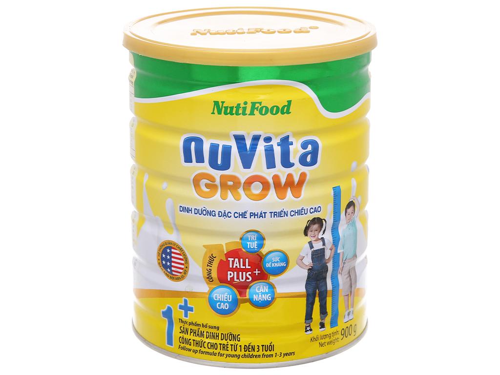 Sữa bột NutiFood Nuvita Grow 1+ lon 900g (1 - 3 tuổi) 2