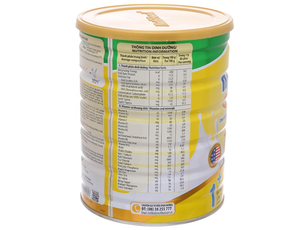 Sữa bột NutiFood Nuvita Grow 1+ lon 900g (1 - 3 tuổi) 4