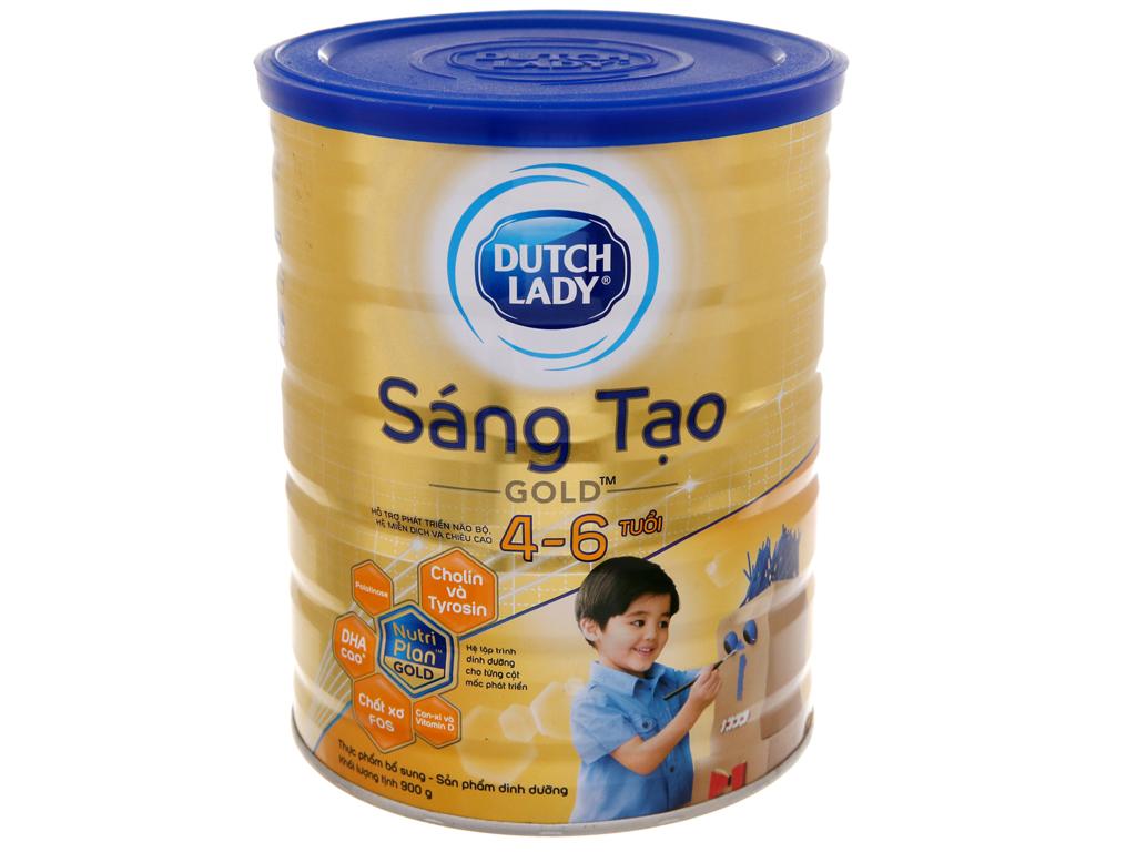 Sữa bột Dutch Lady Gold Sáng Tạo vani lon 900g (4 - 6 tuổi) 1