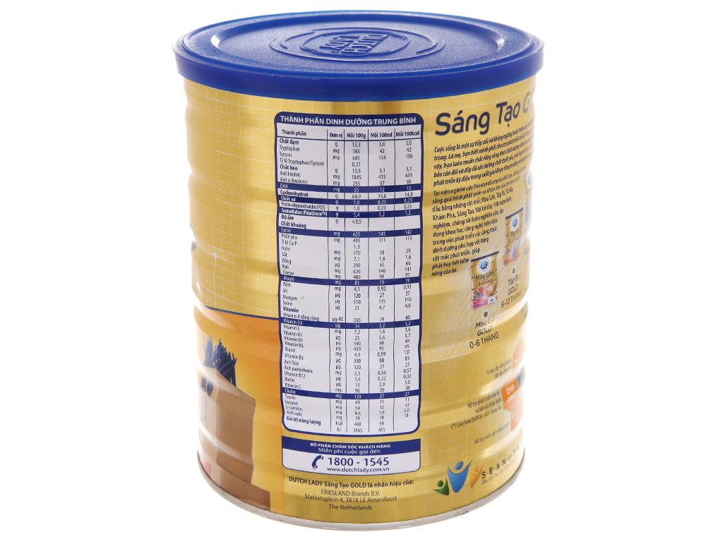 Sữa bột Dutch Lady Gold Sáng Tạo vani lon 900g (4 - 6 tuổi) 2