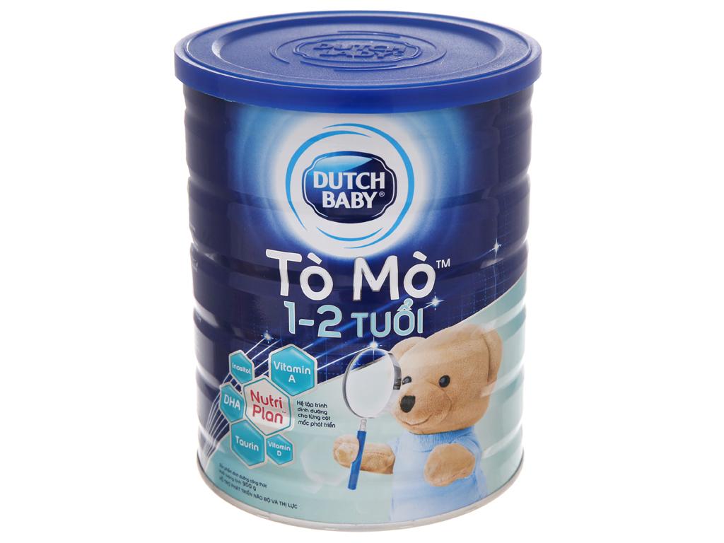 Sữa bột Dutch Baby Tò Mò vani lon 900g (1 - 2 tuổi) 2
