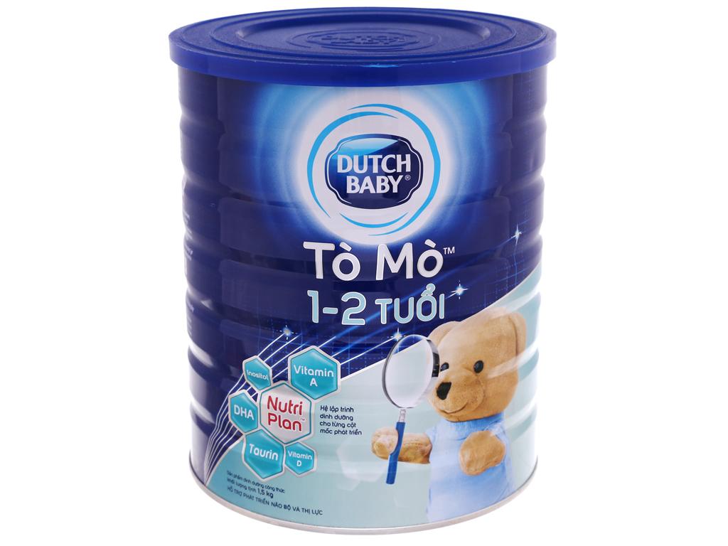 Sữa bột Dutch Baby Tò Mò vani lon 1,5kg (1 - 2 tuổi) 2