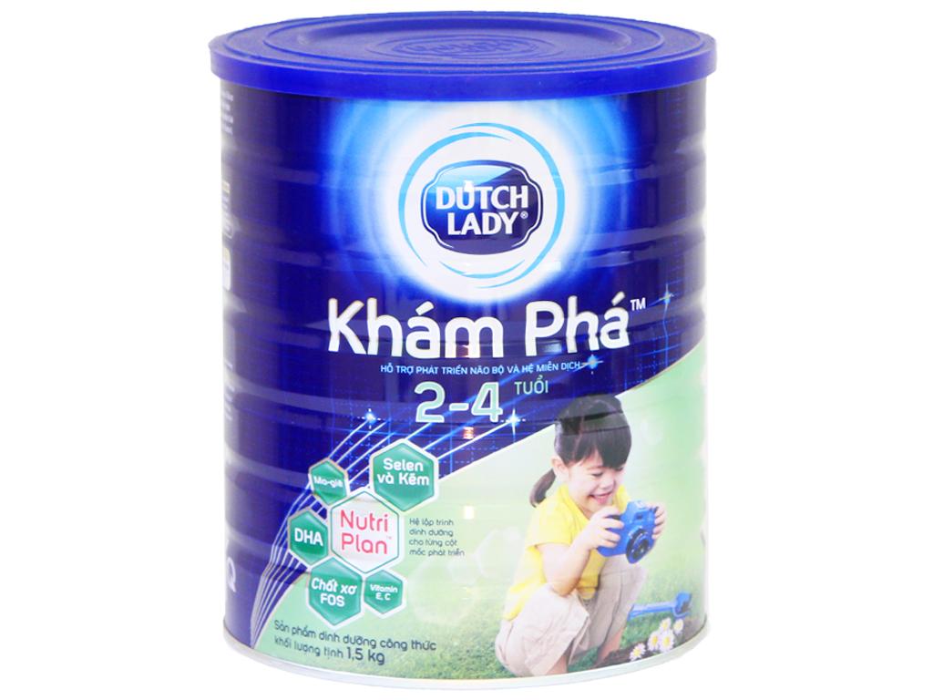 Sữa bột Dutch Lady Khám Phá lon 1,5kg (2 - 4 tuổi) 1