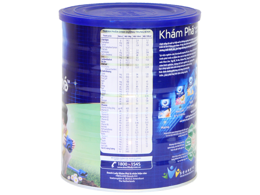 Sữa bột Dutch Lady Khám Phá lon 1,5kg (2 - 4 tuổi) 2