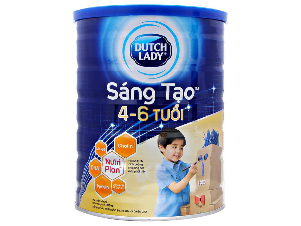 Sữa bột Dutch Lady Sáng Tạo lon 900g (4 - 6 tuổi) 1