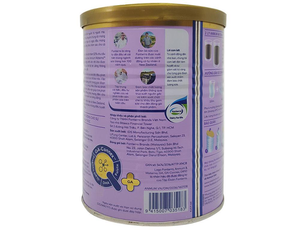 Sữa bột Anmum Materna sô cô la lon 400g 4