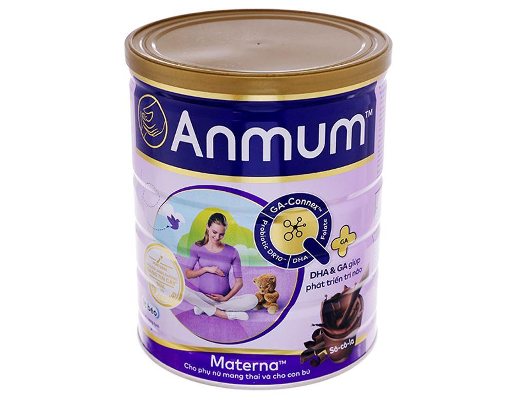 Sữa bột Anmum Materna sô cô la lon 400g 1