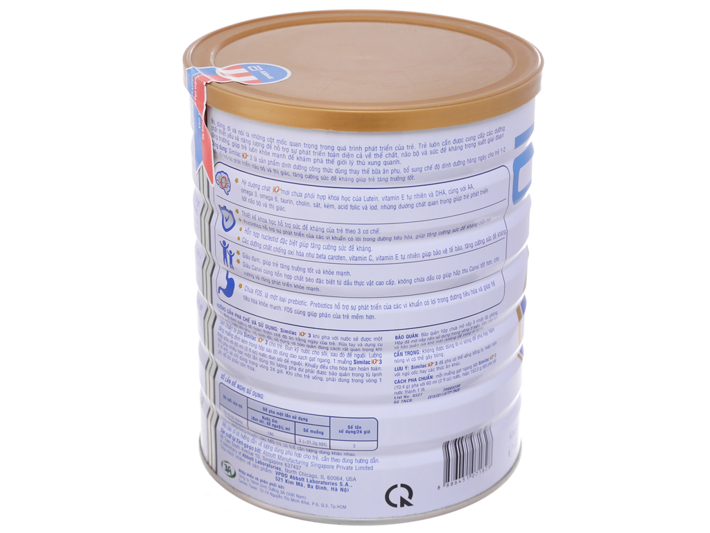 Sữa bột Abbott Similac Eye-Q 3 lon 1,7kg (1 - 2 tuổi) 2