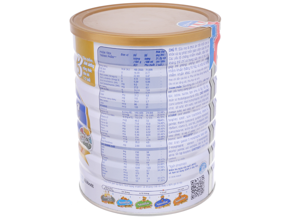 Sữa bột Abbott Similac Eye-Q 3 lon 1,7kg (1 - 2 tuổi) 3