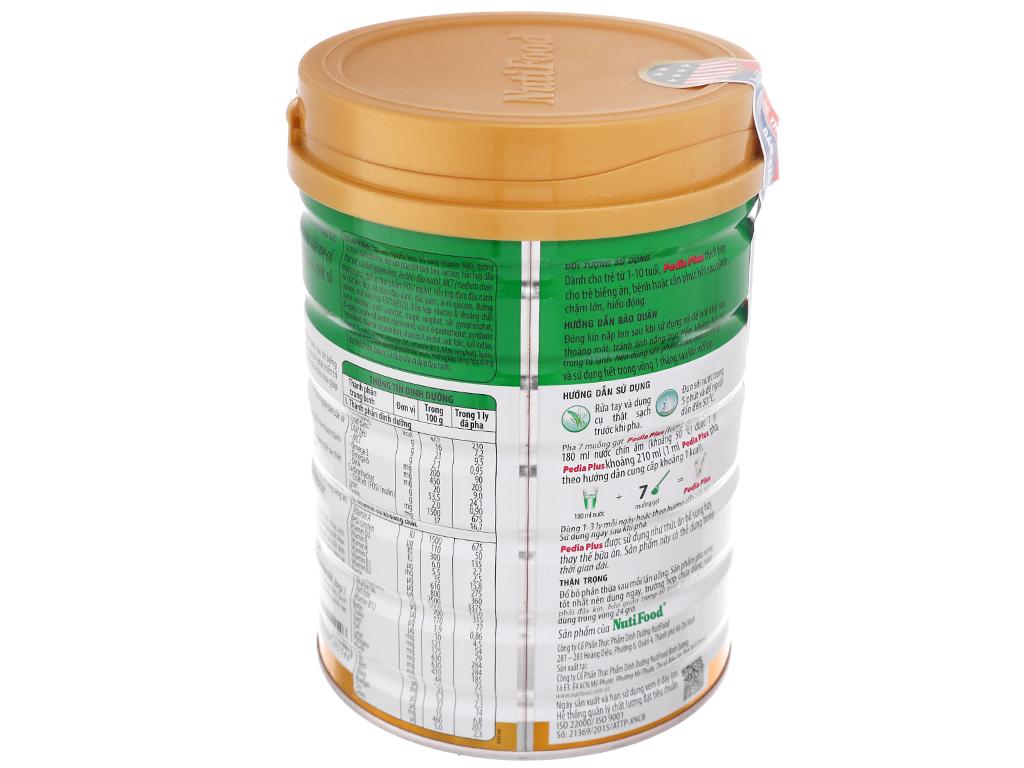 Sữa bột NutiFood Pedia Plus lon 900g (1 - 10 tuổi) 4