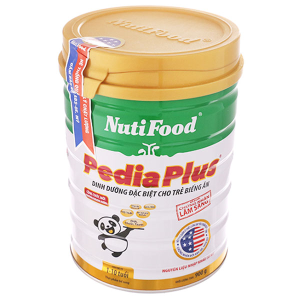 Sữa bột NutiFood Pedia Plus lon 900g (1 - 10 tuổi)