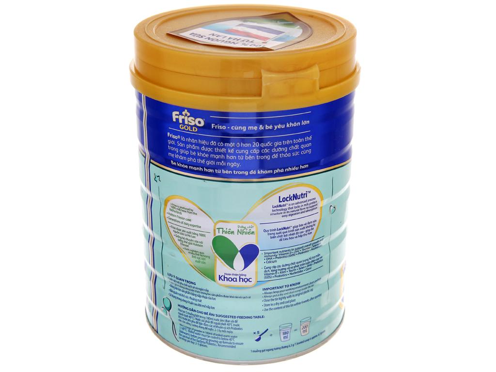 Sữa bột Friso Gold 4 vani hộp 900g (2 - 4 tuổi) 4
