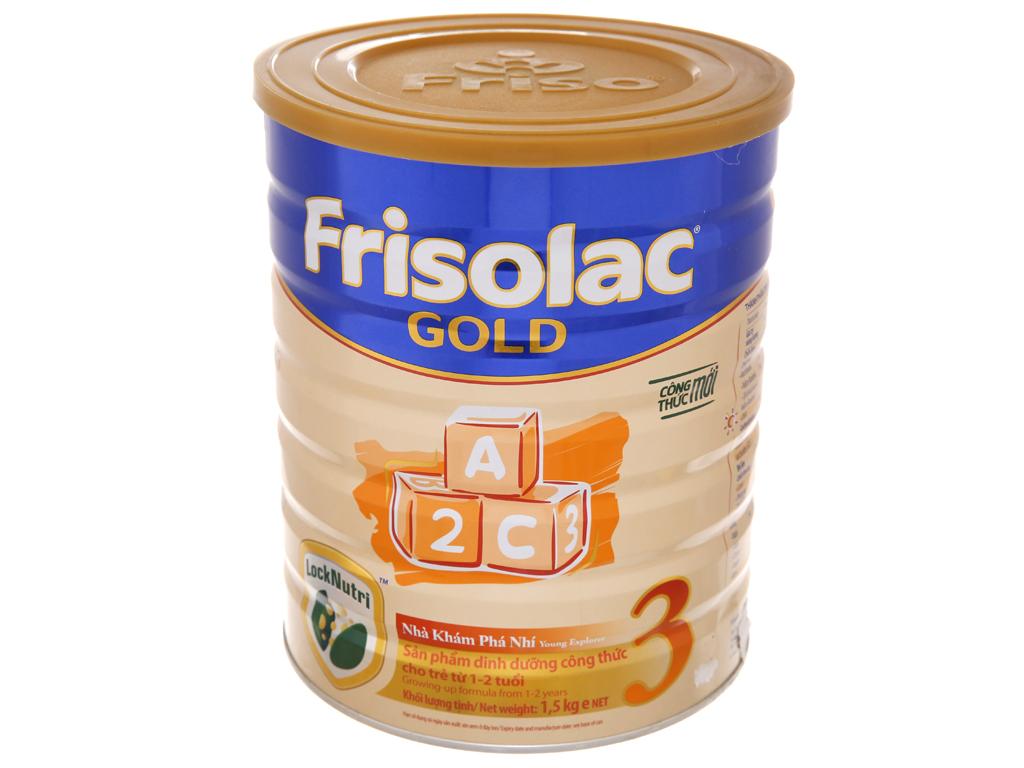 Sữa bột Frisolac Gold 3 vani hộp 1,5kg (1 - 2 tuổi) 2