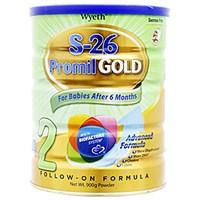 Sữa bột Wyeth S - 26 Promil GOLD 2 900g (từ 6 tháng trở lên)
