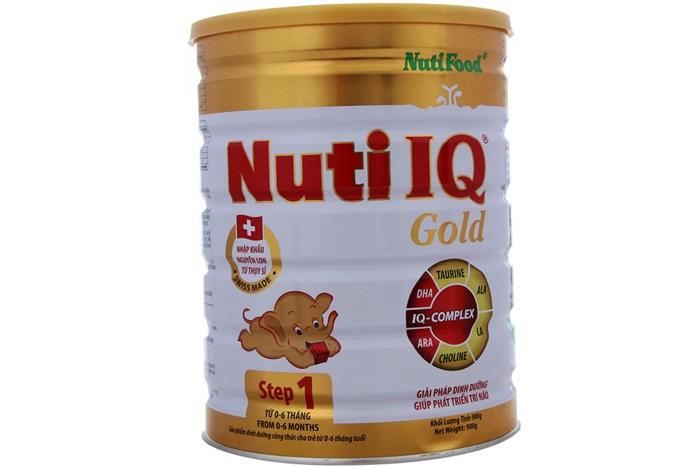 Kết quả hình ảnh cho nuti IQ step 1 900g gold
