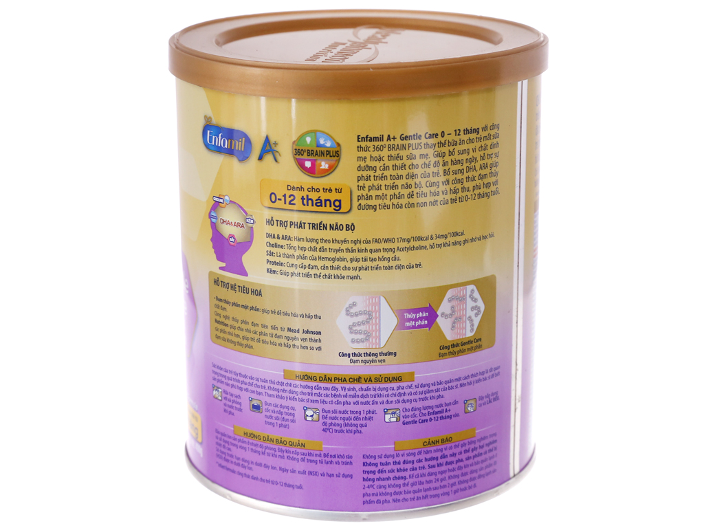 Sữa bột Enfamil A+ Gentle Care lon 400g (0 - 12 tháng) 4